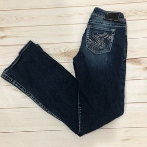 Silver Jeans Jeans - Silver Suki Blingy Pocket Boot Cut Jeans